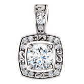 Halo Style Diamond Pendants