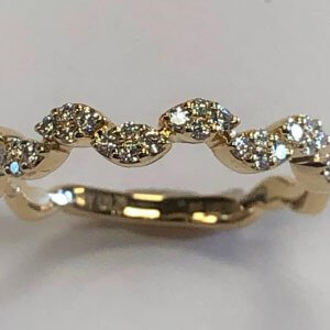 14k Diamond Stack Band